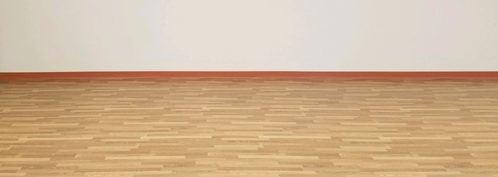 Image of a wooden floor in aerobics studio